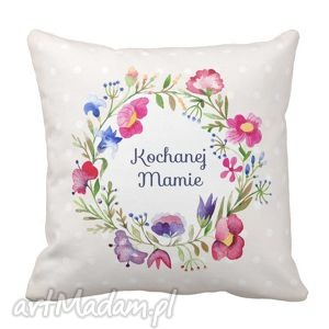 poduszka dekoracyjna kochanej mamie kremowa 6496, prezent poduszki