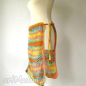 spódnice kolorowa ażurowa narzutka na spódnicę, sukienkę, spodnie, legginsy