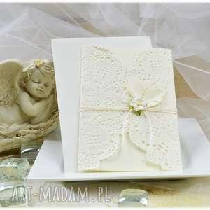 zaproszenie zaproszenia delicate - rezerwacja 15 sztuk, zaproszenie, chrzest, kwiatek