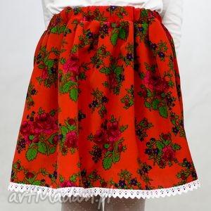 Spódnica góralska, spódniczka ludowa , czerwona wiek 4-6 lat, spódnica,