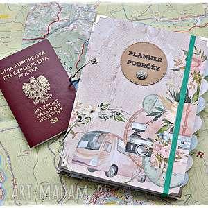 Planner podróży, pamiętnik podróży z personalizacją scrapbooking