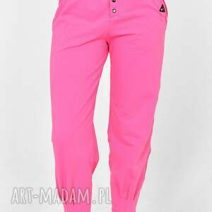 spodnie pumpy agnes różowe, spodnie, tiszert, kombinezon, sukienka