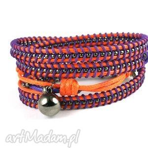 misz-masz pomarańcza, sznurek, lakierowany, pomarańcz, metal, fiolet
