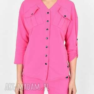 bluzki koszula gaja różowa, bluzki, sukienki, koszulka, bluzy, marynarki