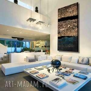 Abstrakcyjny obraz do salonu w stylu modern glam art and texture