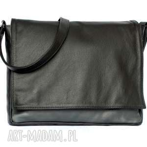 35-0002 czarna torebka aktówka damska do szkoły i studia robin, modne torebki