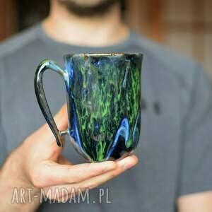 kubek ceramiczny zielona głębia 325 ml, ceramiczny, ceramika