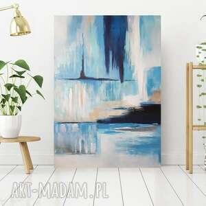 Abstrakcja - obraz akrylowy formatu 70 100 cm paulina lebida