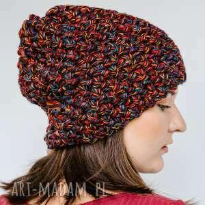 czapka hand made, damska czapka, ciepła wełniana