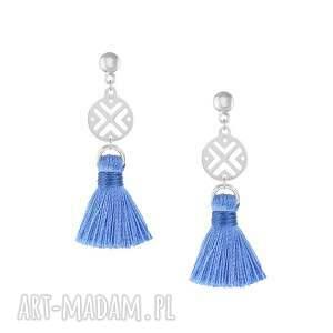 handmade kolczyki kolczyki z niebieskim chwostem - boho