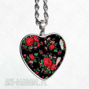 naszyjniki góralka ludowy góralski naszyjnik serce, serduszko, prezent
