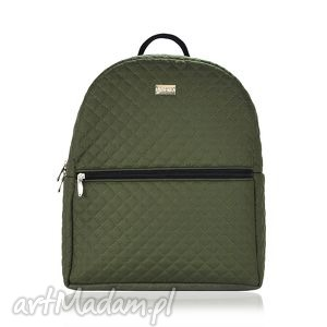 prezent na święta, plecak damski 659 khaki, plecak, damski, rękodzieło, pikowany