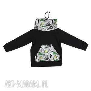 hand-made dla dziecka bluza dresowa czarna ze stójką - trampek