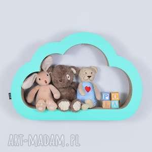 Półka na książki zabawki CHMURKA ecoono | miętowy, półka, chłopiec, dziewczynka