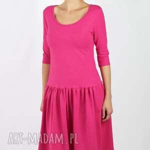 Sukienka - hot pink sukienki noncompromised różowa, fuksjowa