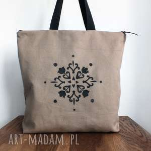 handmade na ramię torba zamek wodoodporna z ręcznie malowanym wzorem