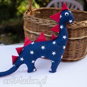 hand-made maskotki dwustronny dinozaur przytulanka