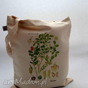 mimi monster torba borówka - płócienna, natura, bawełna, roślina, prezent, nadruk