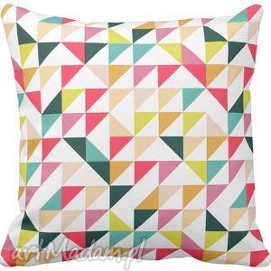 Poszewka na poduszkę dziecięca kolorowe trójkąty 3036, poduszka, poszewka,