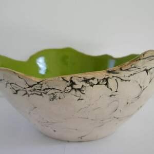 ceramika limonkowa sardynia artystyczna miska rozm m, dekoracyjna