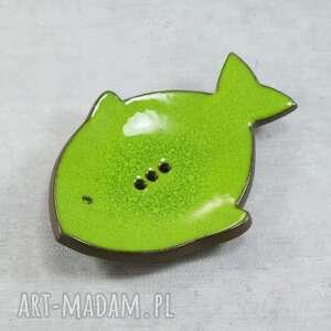ryba - mydelniczka ceramiczna, mydelniczka, ryba, morskie, łazienka, kolorowe