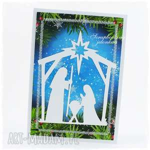 kartka bożonarodzeniowa - narodzenie, święta, szopka, stajenka, boże