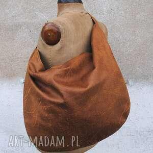 torebki hobo xxl na ramię brown sugar, torba, ramię, nubuk