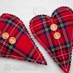 na święta upominek Serce zawieszka z guzikiem, serce, zawieszka, ozdoba, dekoracja