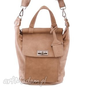 listonoszka emma 03 beige torebka damska, torebka, listonoszka, torba, beżowa torebki