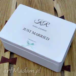 Prezent Ślubne pudełko na koperty Personalizowane Kopertówka, ślub, dekoracjeślubne