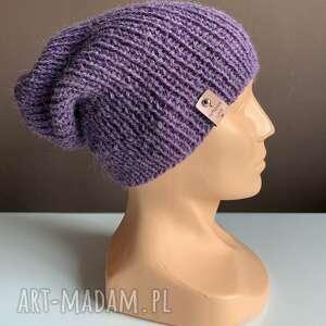 handmade czapki ręcznie robiona czapka hand made ściągacz 100% alpaka