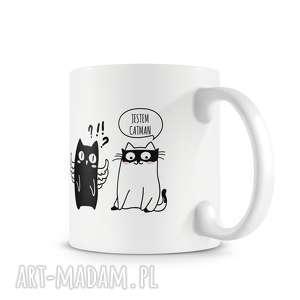 święta, kubek - catman, kubek, prezent, kot, koty, kawa, herbata