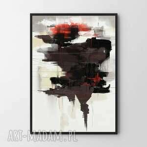 plakat obraz brown #4 a2 - 42x59 4cm, do salonu, mieszkanie, plakat, abstrakcja