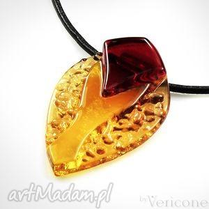 betello - wisior szklany wykonany od podstaw ręcznie, wisior, biżuteria