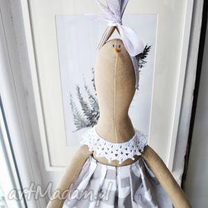 maskotki pani królik, przytulanka, dziecka, prezent, szary, handmade