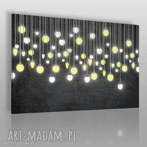 obrazy obraz na płótnie - światło żarówki 120x80 cm 56501, żarówka