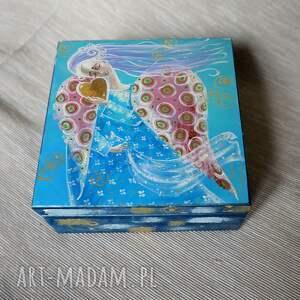 szkatułka miłość jak wiatr, miłość, anioł, prezent, obraz, pudło, 4mara