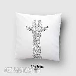 poduszka z żyrafą outline, poduszka, poszewka, dom, wystrój, żyrafa