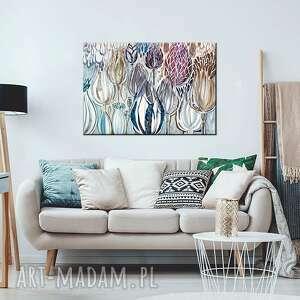 obraz akryl na płótnie - kwiaty polne, obraz, ręcznie, malowany, płótno