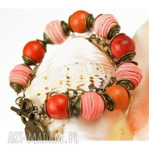 Letnia kolorowa bransoletka z howlitów c506, letnia-bransoletka, biżuteria-z-kamieni