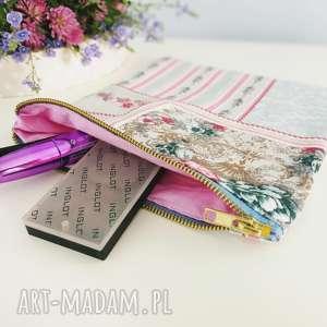 kosmetyczka organizer do torebki, kosmetyczka, vintage, organizer, torebka, kwiaty