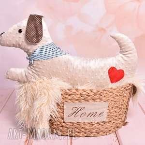 ateliermalegodesignu poduszka dziecięca pies, przytulanka minky
