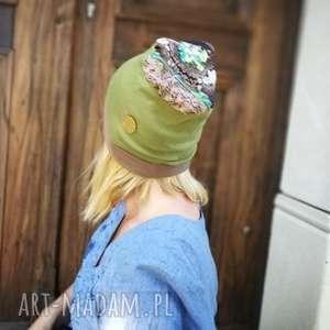 czapka damska dzianina zgrabna na podszewce przejsciowka, czapka, dzianina, kolorowa
