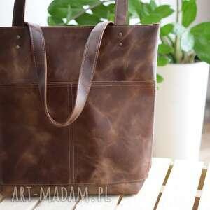 ręcznie zrobione na ramię torebka skóra naturalna vintage