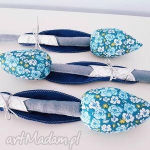 tulipanek bawełniano filcowy niebieski