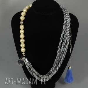 Kolia naszyjnik Sarah, kolia, korale, naszyjnik, chwost, perły, elegancki