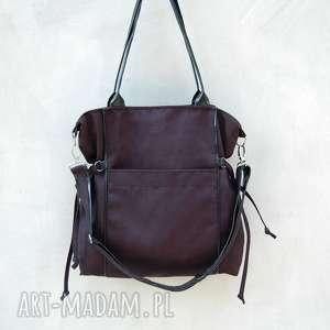 na ramię amber - duża torba shopper czarna, prezent, modna, pojemna, niebanalna