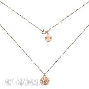 naszyjnik z różowego złota z liśćmi palmy - łańcuszek