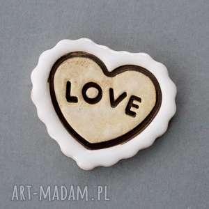 LOVE-MAGNES CERAMICZNY, walentynki, minimalizm, serce, miłość, love,