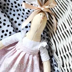 pani królik mała, lalka, spersonalizowana, imię, wyszytę, chrzest, urodziny, pod